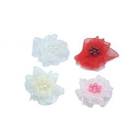 Organza virágok Ø 20mm