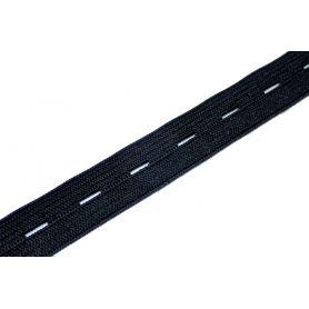 Gomblyukas gumi -fekete- 17mm