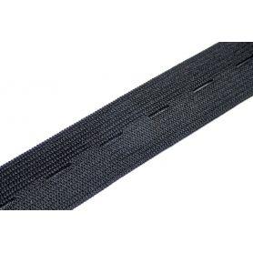 Gomblyukas gumi -fekete- 25mm