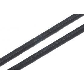 Gumi zsinór -fekete- Ø 3mm