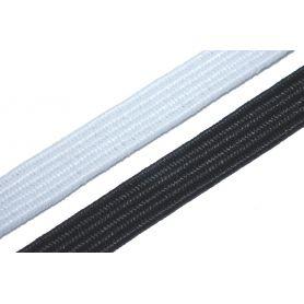 Gumi szalag -fehér-fekete- 6mm