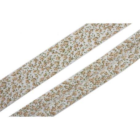 Virágos, pamut ferdepánt 2cm széles