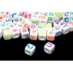 ABC kocka gyöngy -Számos- mm