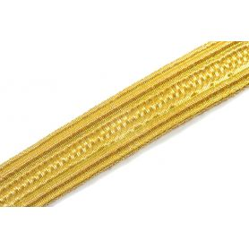 Fémszálas arany paszomány szalag 8, 10, 15mm