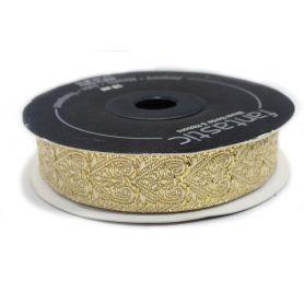 Mintás szalag -lurex- 15mm
