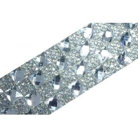 Felvasalható strassz kristály lap 160db