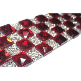 Felvasalható strassz kristály lap 60db