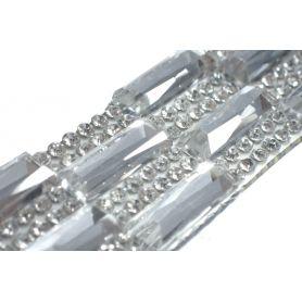 Felvasalható strassz kristály lap 64db