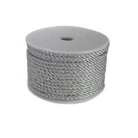 Csavart dekorzsinór ezüst Ø 4mm