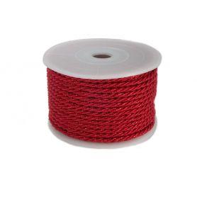 Csavart dekorzsinór piros Ø 4mm