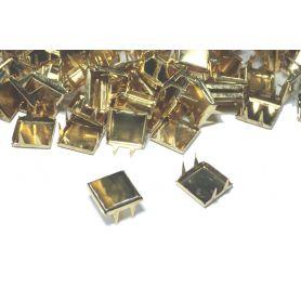 Szögletes, lapos szegecs -Arany -10mm