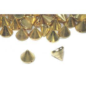 Kerek, felvarrható szegecs -Arany -12mm