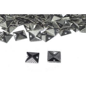 Szögletes felvarrható szegecs -Króm -9mm