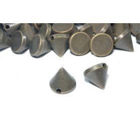 Kerek, felvarrható szegecs -Bronz -10mm