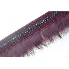 Nyúlprém-bársony lánccal 4cm