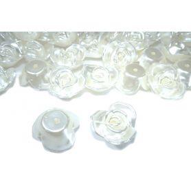 Tekla gyöngy -Rózsa- 10x22mm