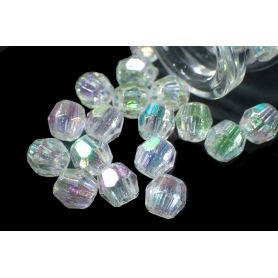 Műanyag kristály gyöngy utánzat -6mm
