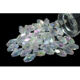 Műanyag kristály utánzat Irizáló -8x4mm