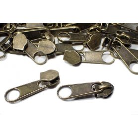 Húzózár futó (spirál) bronz -3mm