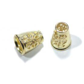 Fém zsinórvég -Arany - Ø 5mm-9mm