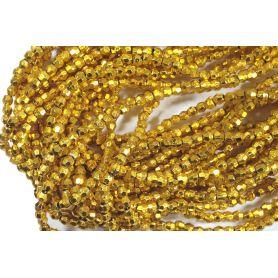 Fűzött gyöngy -Szögletes- 3mm