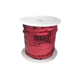 Rugalmas flitter -Piros -6mm