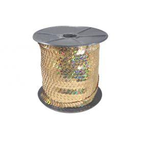 Rugalmas flitter -Irizáló arany -6mm