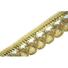 Bortni  28mm - arany lurex -