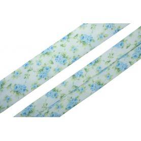 Pamut mintás ferdepánt -Virágos- 2cm