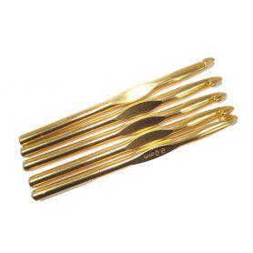 Aluminium eloxált horgolótűk 9.0mm 10.0mm