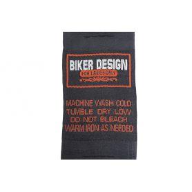 Felvarrharó folt, cimke -Biker Design- 46mm