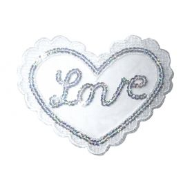 Vasalható flitter tüll alapon -Love-