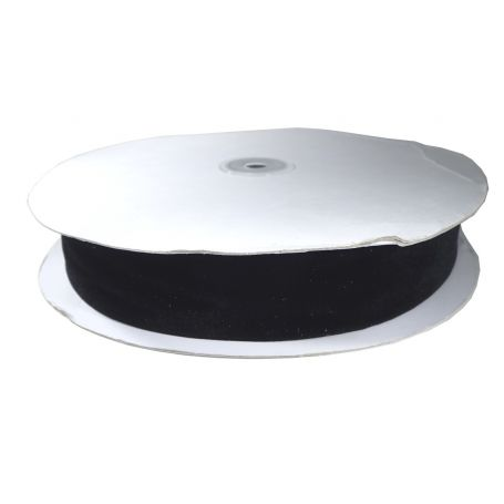 Bársony szalag -Fekete-3.5cm (23m)