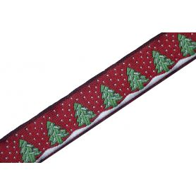 Karácsonyi szalag -Fenyőfa- 15mm