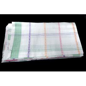 Textil zsebkendők 28x28 -Világos kockás-