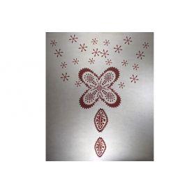 Felvasalható motívum -Virág- 20 x 25cm