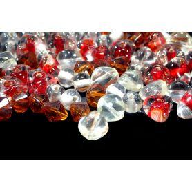 Vegyes üveg gyöngy 6-10mm