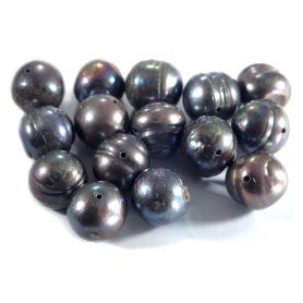 Tenyésztett gyöngy -Sötét- kb10mm