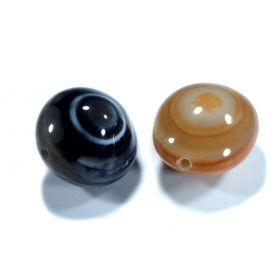 Nagyméretű ásvány gyöngy kb2x2.5cm