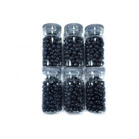 Fekete Fa gyöngyök - Ø4.5mm