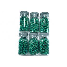 Türkiz zöld Fa gyöngyök - Ø4.5mm