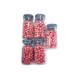 Rózsaszín Fa gyöngyök - Ø4.5mm