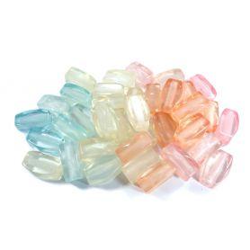 Nagyméretű műanyag gyöngy -Vegyes- 2x3cm