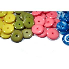 Korong alakú műanyag gyöngyök-Vegyes- Ø18mm