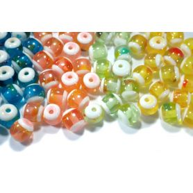 Vegyes műanyag gyöngyök -Ø10mm