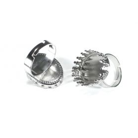 Gyűrű alap Ø25mm x 18mm foglalat