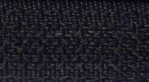 Spirál zip 41 fekete