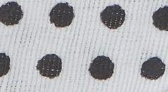 Pamut ferde kis pöttyös - fekete